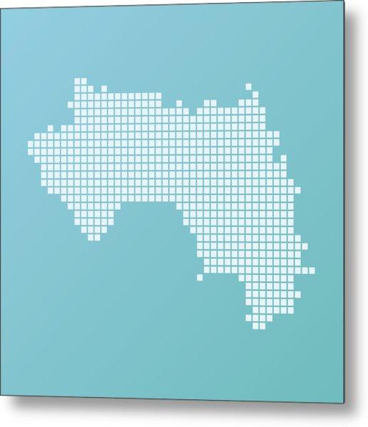 Guinea Map Basic Square Pattern Turquoise Metal Print by FrankRamspott