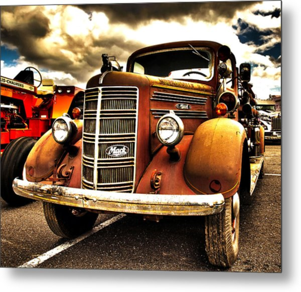 Hdr Fire Truck Metal Print