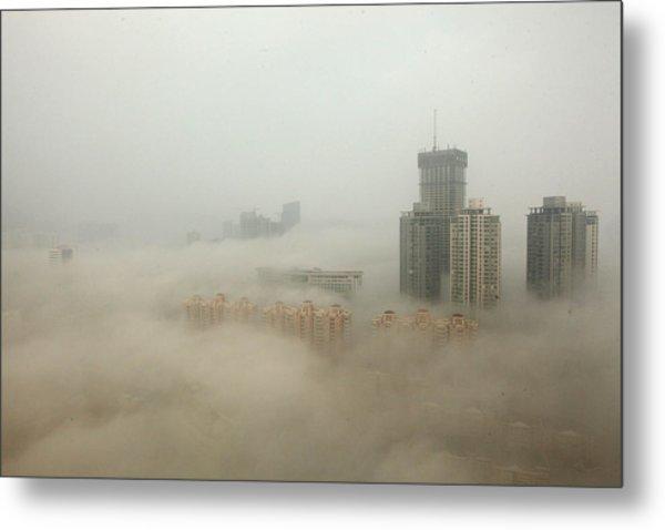 Heavy Smog Hits East China Metal Print by Vcg