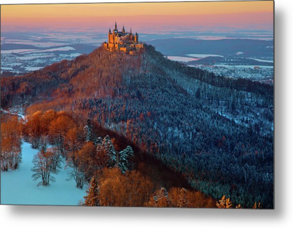 Hohenzollern In  Winter Mood Metal Print