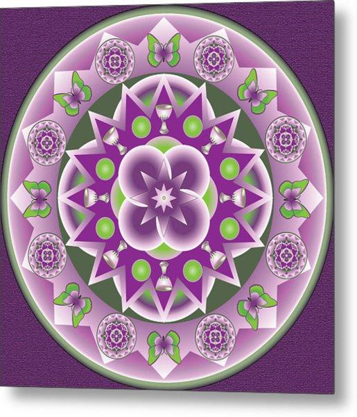Holy Week Mandala Metal Print by Linda Pope