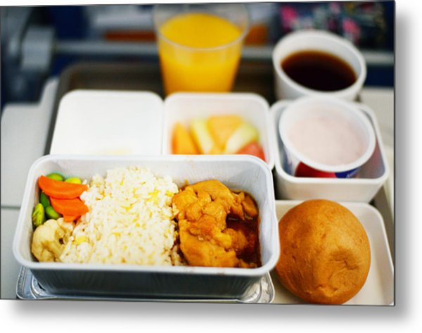 In Flight Meal - Economy Class Metal Print by Cheryl Chan