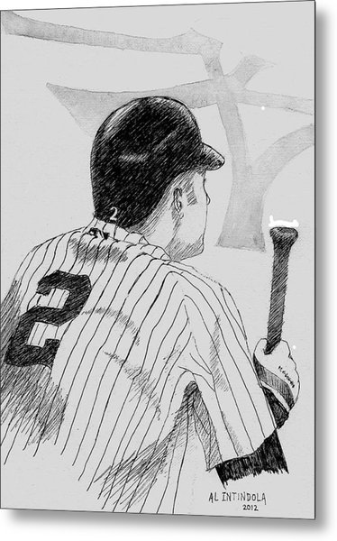 Jeter On Deck Metal Print