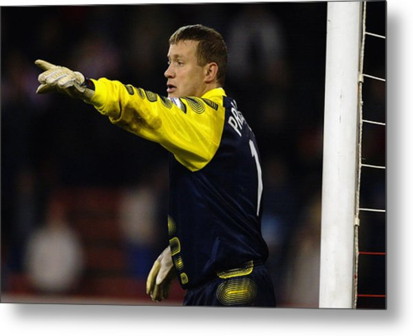 Kevin Pressman Of Sheffield Wednesday Metal Print by Laurence Griffiths