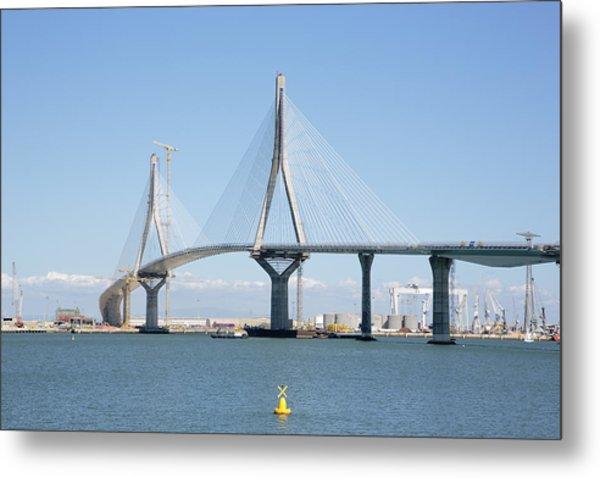 La Pepa Bridge Under Construction Metal Print by Iñaki Respaldiza