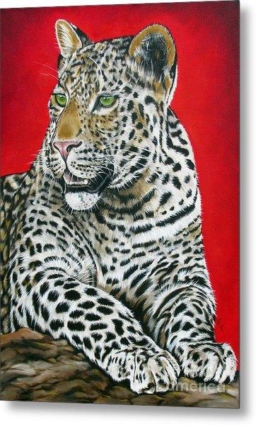 Leopard Metal Print by Ilse Kleyn
