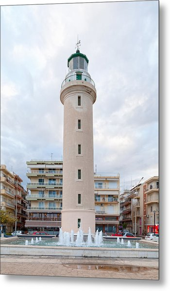 Lighthouse Of Alexandroupoli Metal Print by Gwengoat