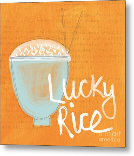 Lucky Rice Metal Print