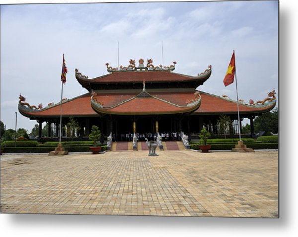 Main Temple Of The Ben Duoc Monument To War Martyrs. Cu Chi, Vietnam Metal Print by Sheldon Levis