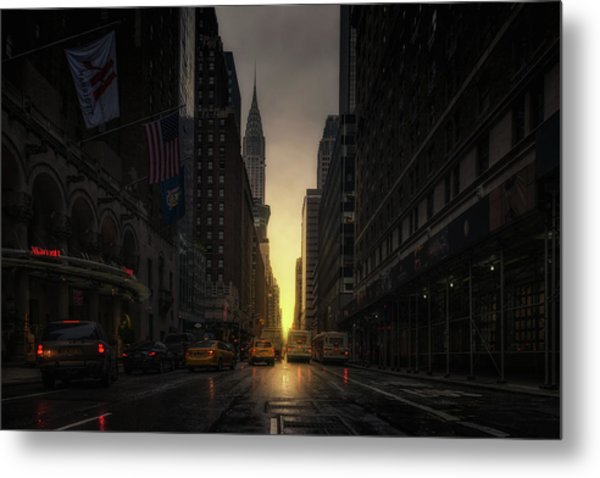 Manhattanhenge Metal Print