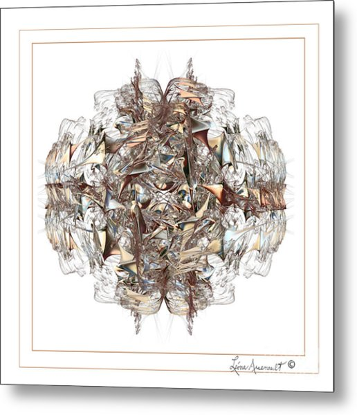 Metallic On White Metal Print