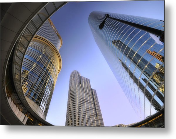 Modern Architecture Of Houston Metal Print by Shobeir Ansari