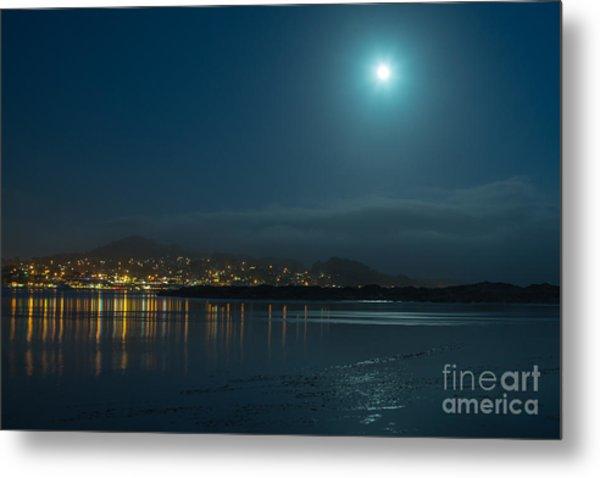 Morro Bay At Night Metal Print