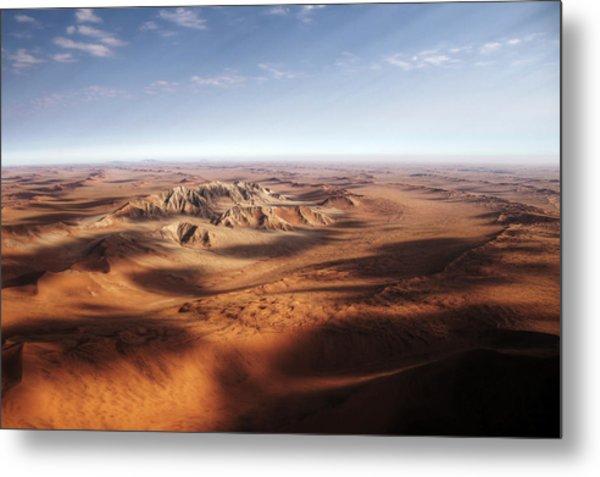 Namibian Sand Dunes View From Plane Metal Print by Mariusz Kluzniak