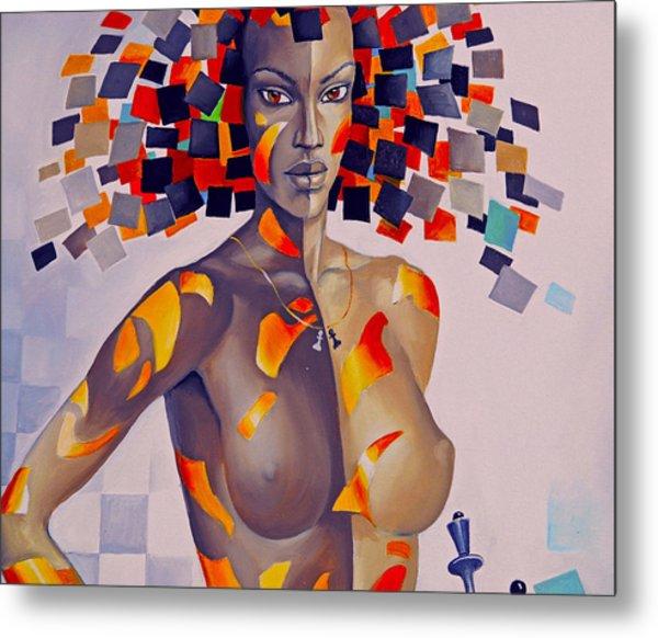 Nude Women On The Wall Metal Print