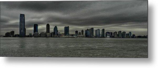 Nyc - Battery Park - Jersey City Metal Print