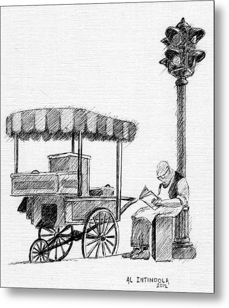 Old Pushcart Metal Print