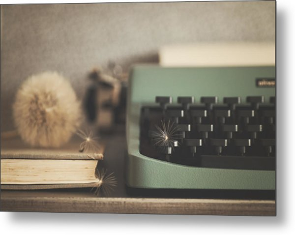 Old Typewriter Metal Print by Alicia Llop