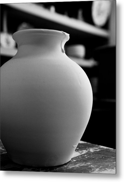 One Earthenware Jug  Metal Print