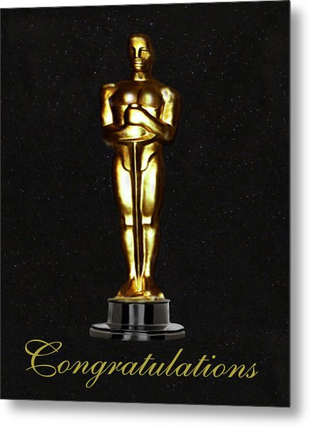 Oscars Congratulations Metal Print