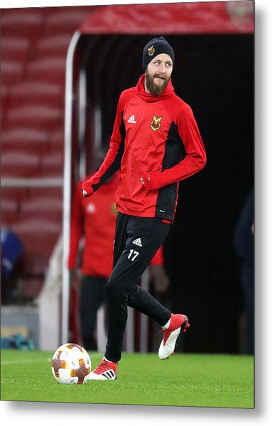 Ostersunds Fk Training Session And Press Conference - Emirates Stadium Metal Print by Adam Davy - PA Images