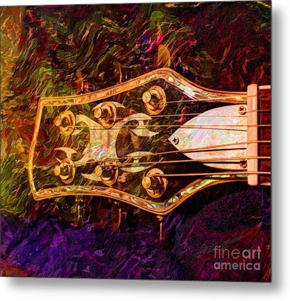 Out Of Tune Digital Guitar Art By Steven Langston Metal Print by Steven Lebron Langston