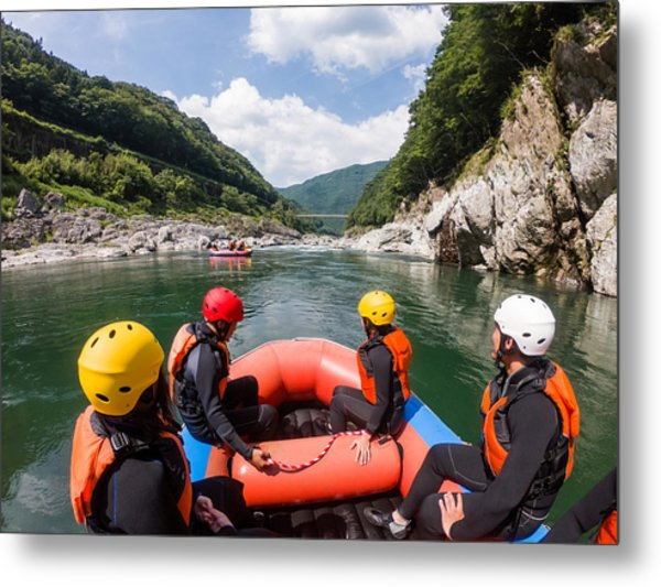 Personal Point Of View Of A White Water River Rafting Excursion Metal Print by Tdub303