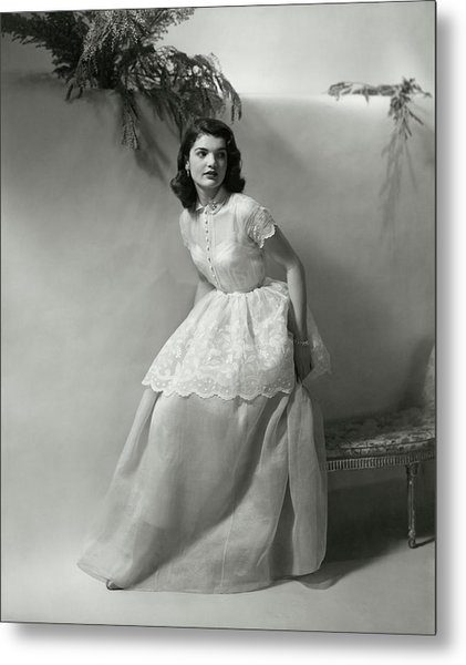 Portrait Of Jacqueline Kennedy Onassis Metal Print