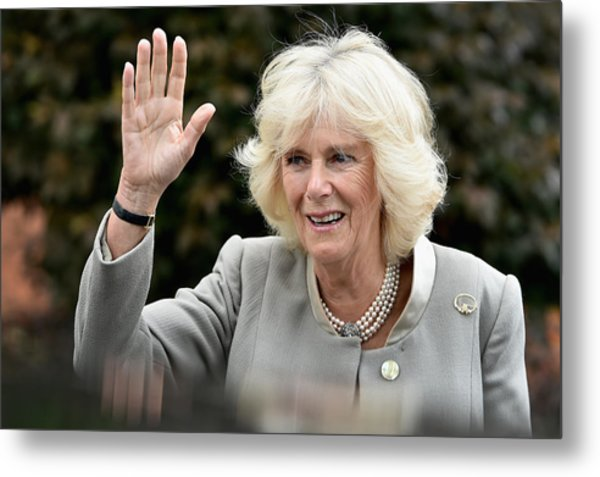 Prince Of Wales And The Duchess Of Cornwall's Irish Trip Day Three Metal Print by Jeff J Mitchell