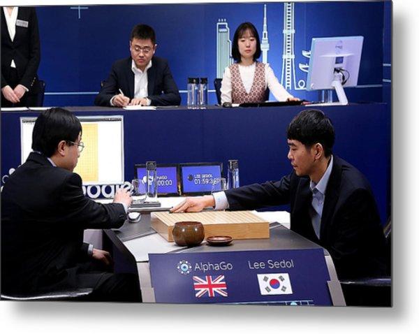 Professional 'go' Player Lee Se-dol Plays Google's Alphago - Last Day Metal Print by Handout