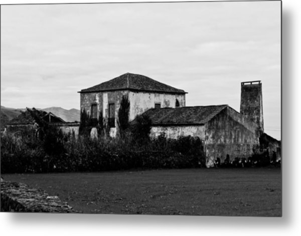 Rustic Outbuildings In A Field  Metal Print