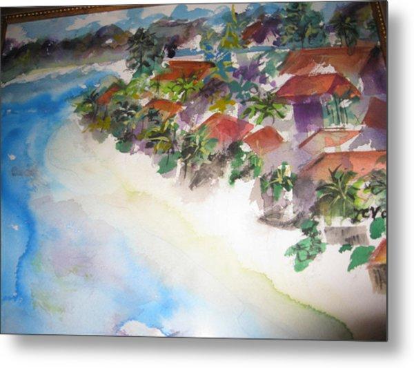 Seashore In Bali Metal Print