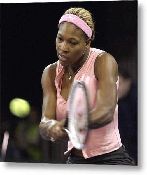 Serena Williams Of The Usa  Metal Print by Jamie McDonald