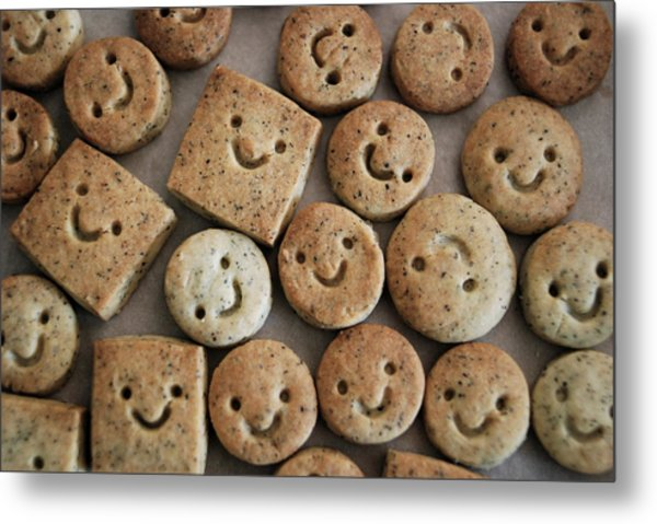 Smile Cookies Metal Print by Cocoaloco