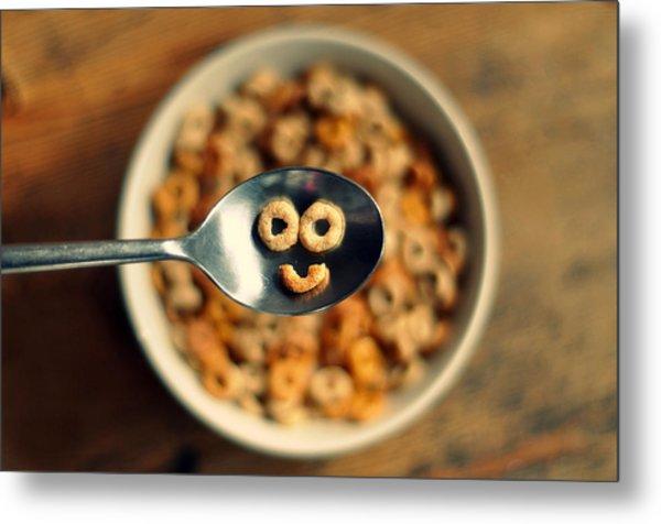 Smiling Cereal Metal Print by Katesea