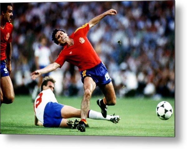 Soccer - World Cup Spain 82 - Group B - England V Spain Metal Print by Peter Robinson - EMPICS