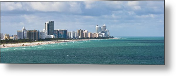 South Beach On A Summer Day Metal Print