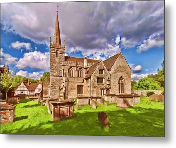 St Cyriac Church Lacock Metal Print