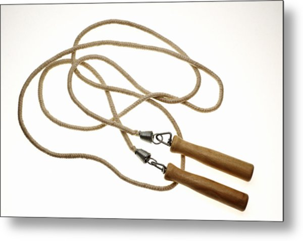 Still Life Of Jump Rope. Metal Print by Thinkstock
