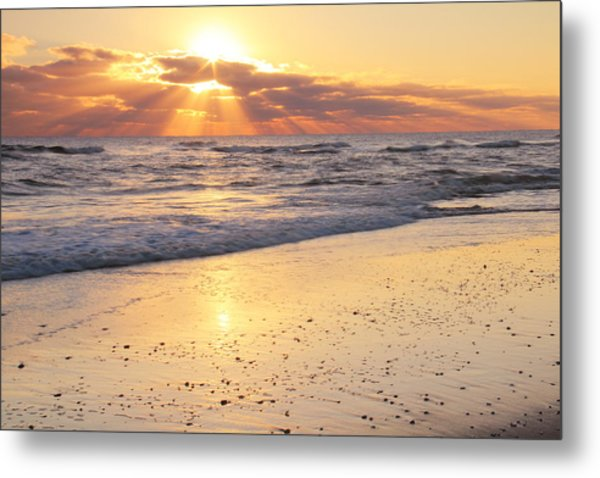 Sunbeams On The Beach Metal Print