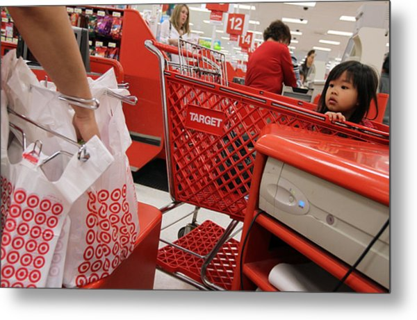 Target Reports Increase In Quarterly Earnings Metal Print by Justin Sullivan