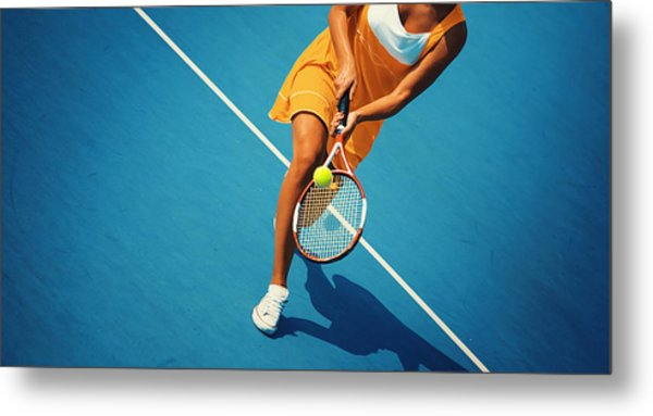 Tennis Game. Metal Print by Gilaxia
