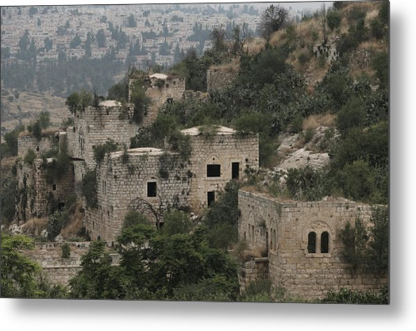 The Abandoned Palestinian Village Of Lifta On The Outskirts Of Jerusalem Metal Print by Eddie Gerald