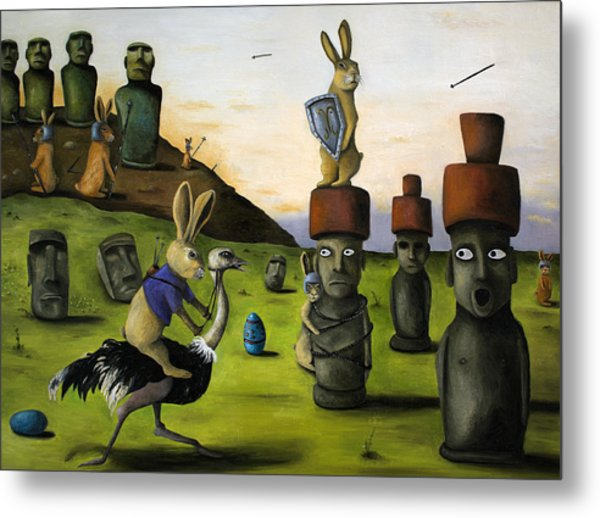The Battle Over Easter Island Metal Print
