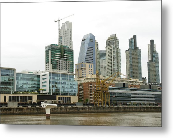 The Buenos Aires Central Business District Metal Print by Jens Kuhfs