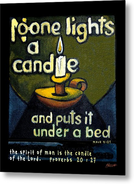 The Candle Metal Print by Patricia Howitt
