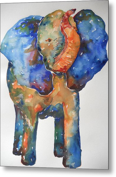 The Colorful Elephant Metal Print by Brandi  Hickman