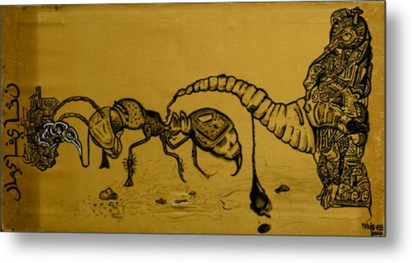 The Conception Of Picasso And Dali Metal Print by Nickolas Kossup