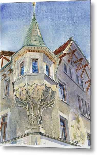 The Tower At Conditorei Central Metal Print