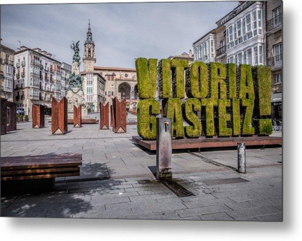 The Vertical Garden In Vitoria-gasteiz Metal Print by Salima Senyavskaya